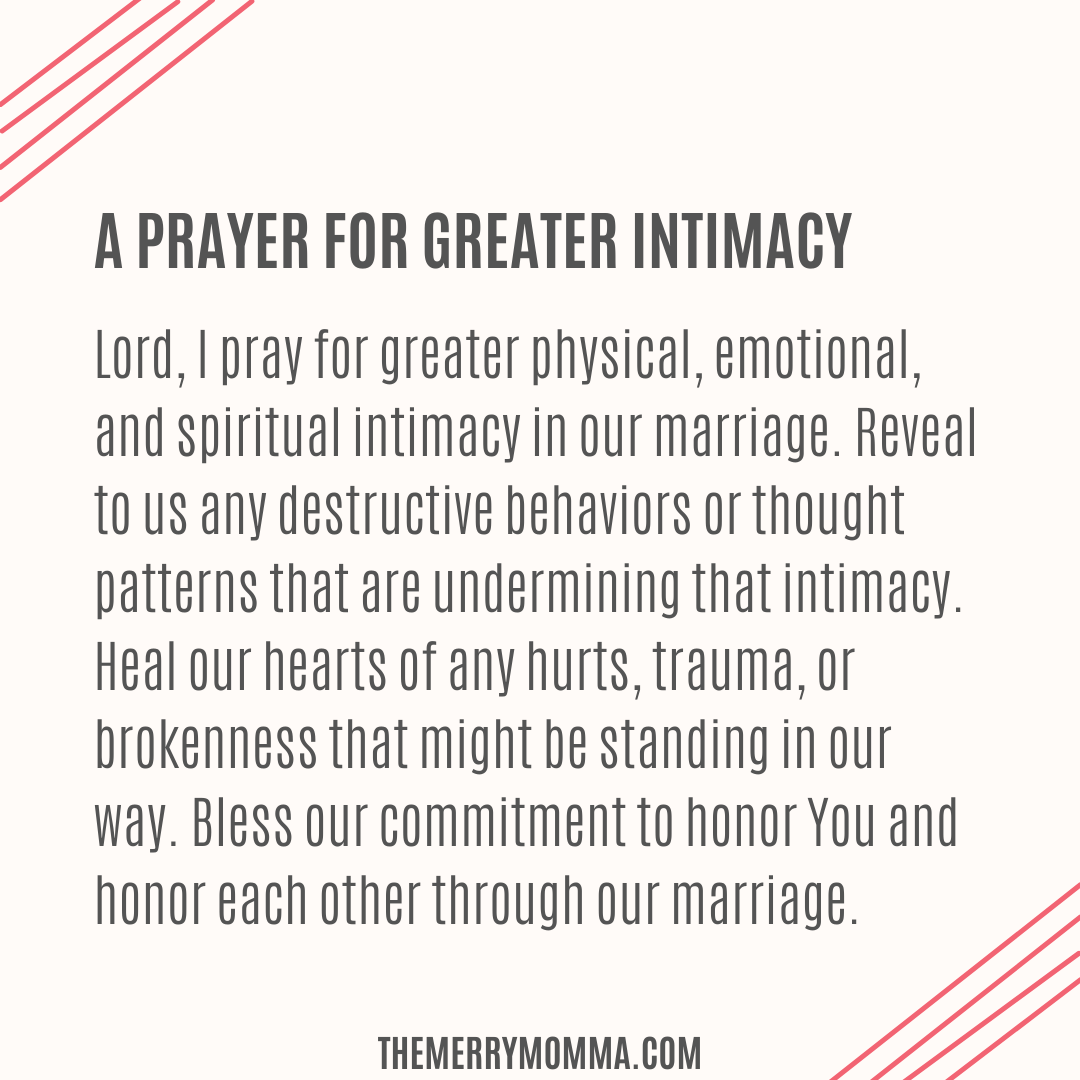 A Prayer for Greater Intimacy
