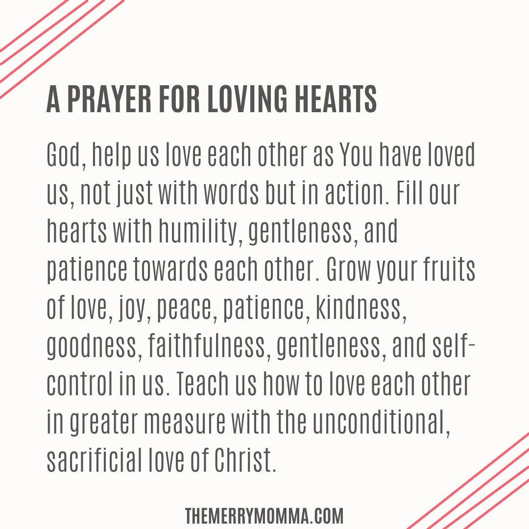 A Prayer for Loving Hearts