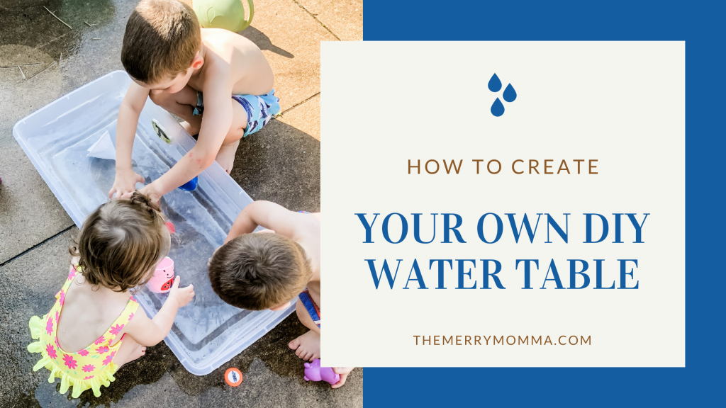 How to Make Your Own DIY Water Table