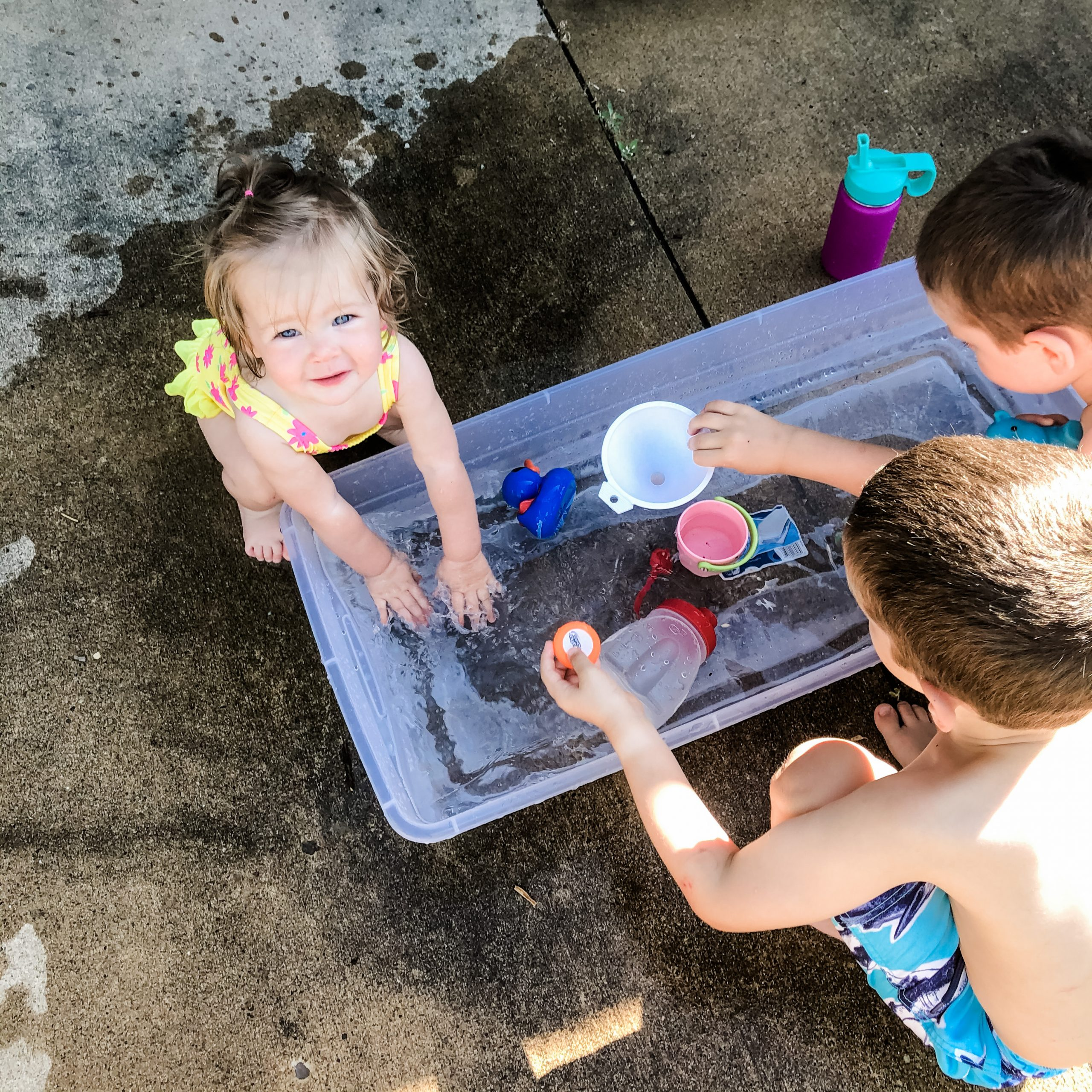 Our own DIY water table