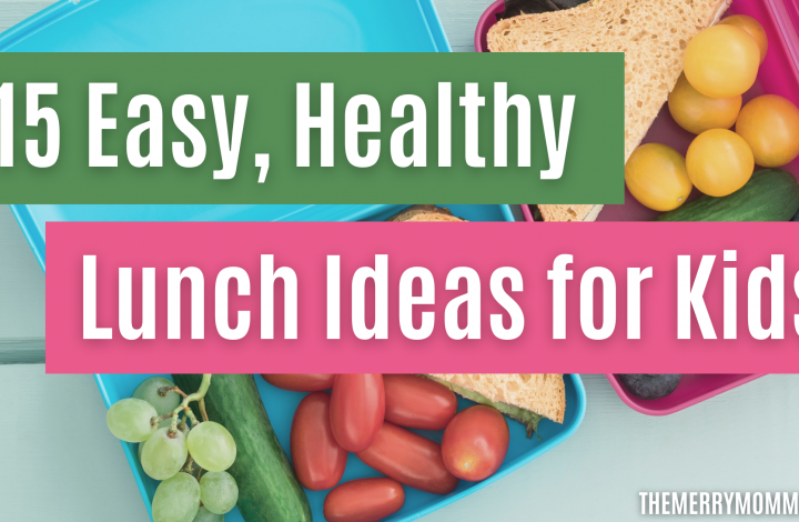 15 Easy Lunch Ideas for Kids | The Merry Momma