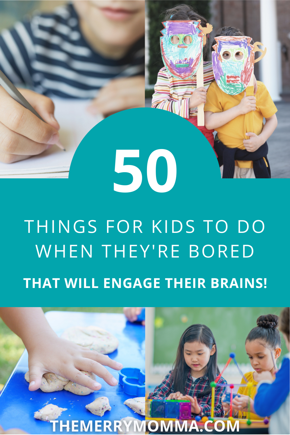 """Pin """"50 Things for Kids to Do When They're Bored"""" on Pinterest!"""