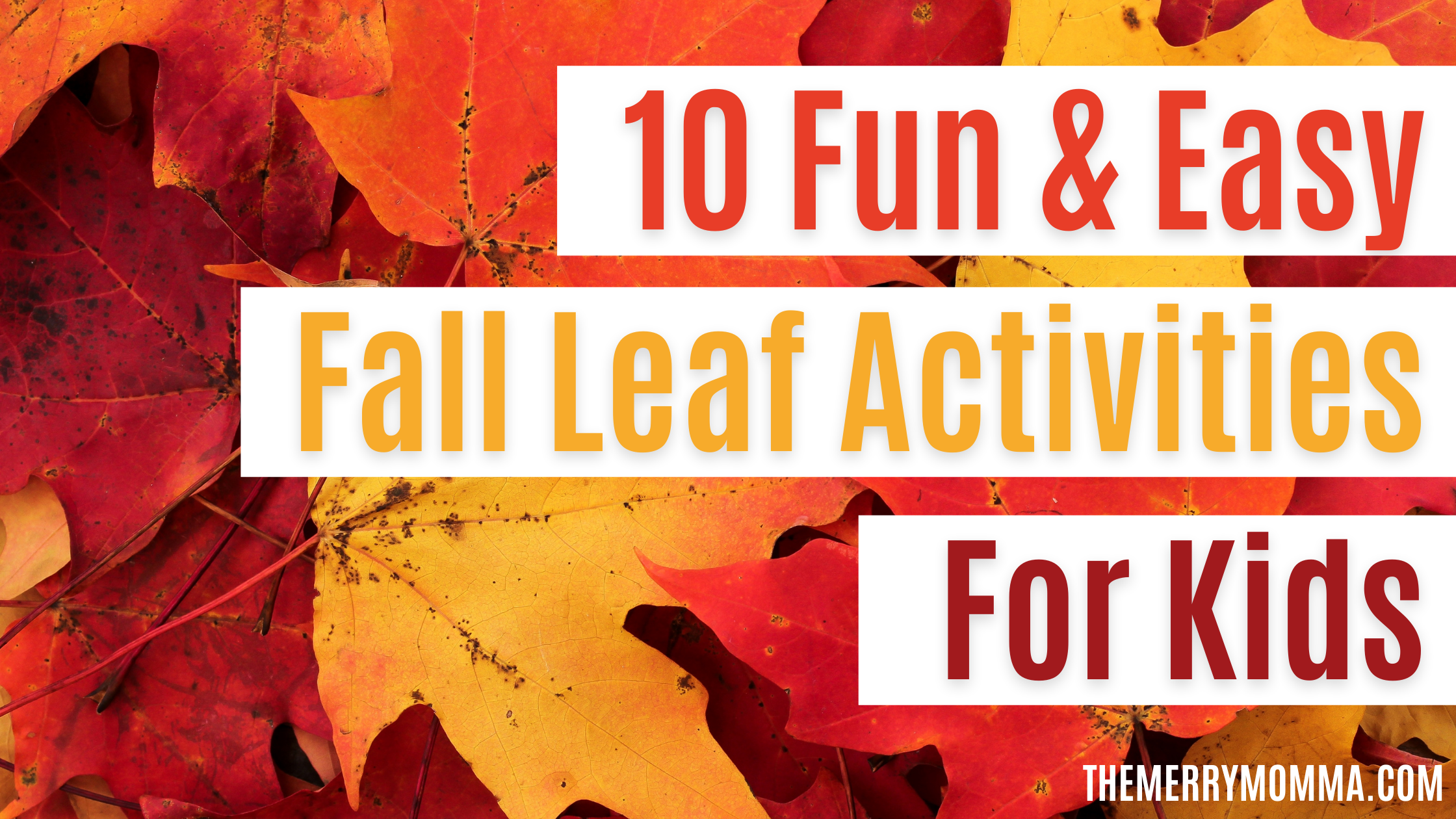 10 Fun & Easy Fall Leaf Activities for Kids | The Merry Momma